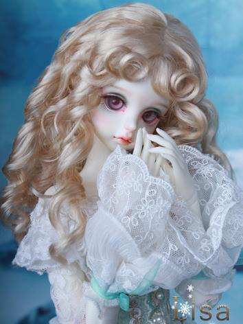 BJD Wig Cream Gold Curly Ha...