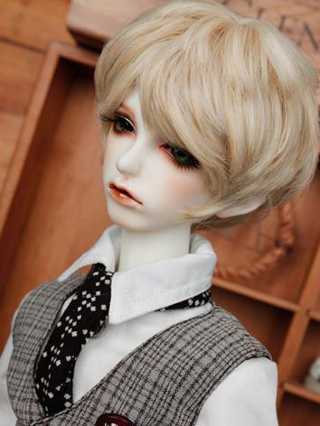 BJD Wig Boy Light Gold Shor...
