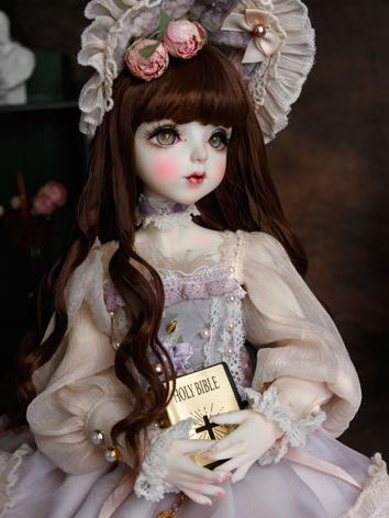 BJD Wig Girl Brown Curly Hair Wig for MSD Size Ball-jointed Doll