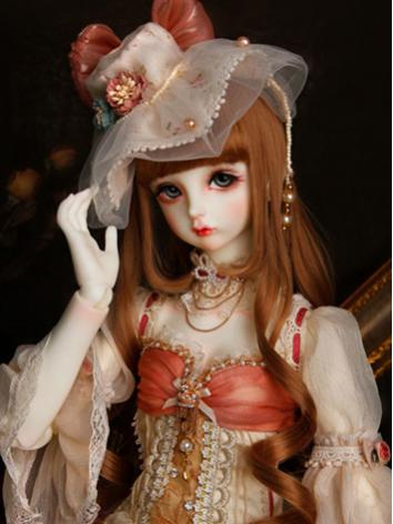 BJD Wig Girl Light Brown Long Hair Wig for SD Size Ball-jointed Doll