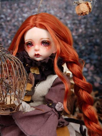 BJD Wig Girl Orange Long Ha...