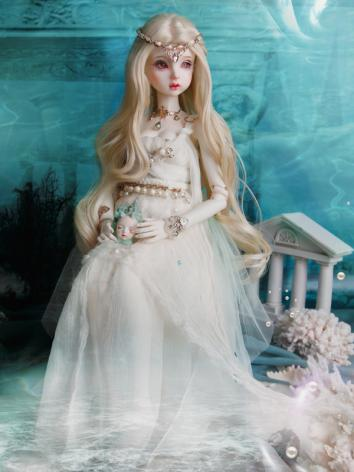 BJD Clothes Girl Hallea Outfit White Princess Dress for SD Size Ball-jointed Doll