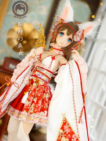 1/3 SD Clothes Witch Suits Nine-tailed Kimono Girl for SD/DD Size Ball-jointed Doll