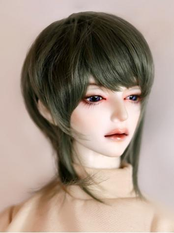 BJD Wig Boy/Girl Pink/Brown/Black/Green Hair for SD/MSD Size Ball-jointed Doll