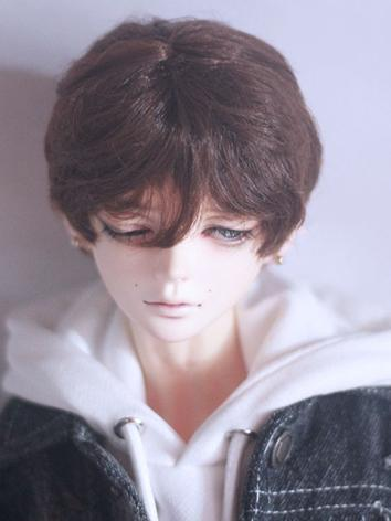 BJD Wig Boy Brown/Silver/Light Gold Hair Wig for SD/MSD/YOSD Size Ball-jointed Doll