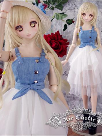 BJD Clothes SD/DD Size Girl Street Style Sling Denim Dress Ball-jointed Doll
