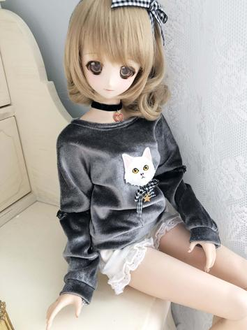 1/3 1/4 Girl Clothes Gray T...
