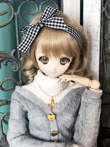 1/3 1/4 Girl Gray Cardigan Coat for SD/DD/MSD Size Ball-jointed Doll