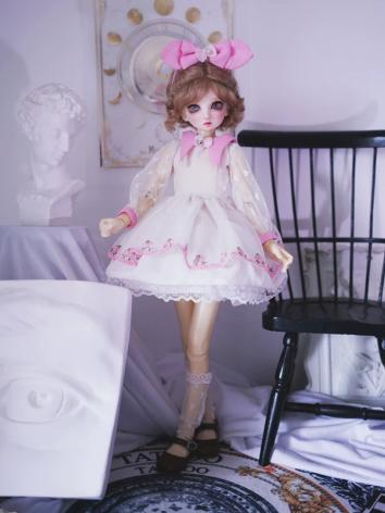 BJD Clothes Girl White-Pink...