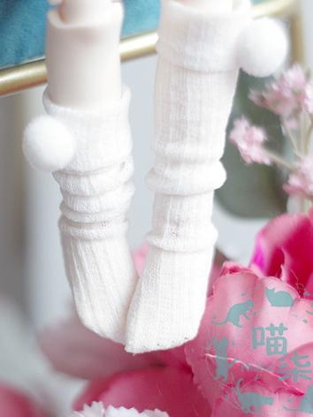 Bjd Socks Girls White knee ...