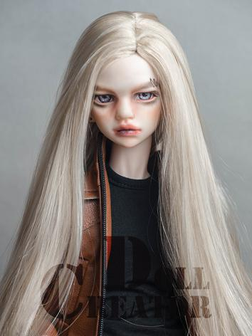 BJD Wig Girl/Boy Gold Long Straight Hair for MSD Size Ball-jointed Doll
