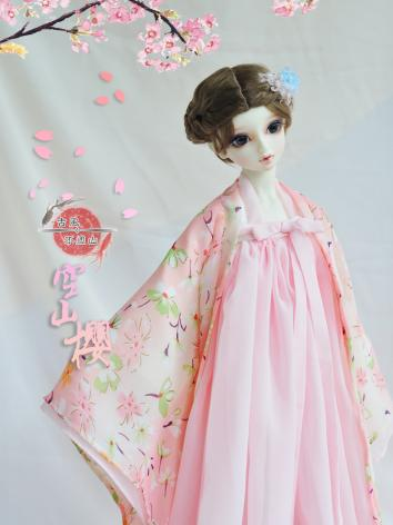 BJD Clothes Girl Pink Cherr...