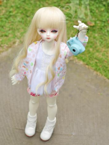 BJD Clothes Girl Rainbow Love Cardigan Jacket for SD/MSD size Ball-jointed Doll