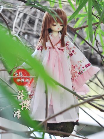 BJD Clothes Girl Pink Ancient Dress for YOSD size Ball-jointed Doll