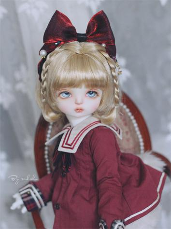 BJD Hair Decoration Red Bow...