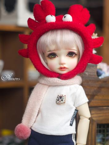 BJD Clothes Red Crab Hat fo...