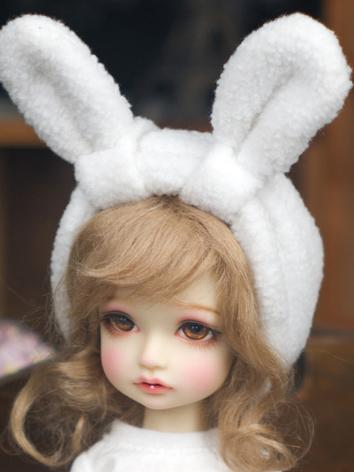 BJD Clothes White Rabbit Ears for YOSD Ball-jointed Doll