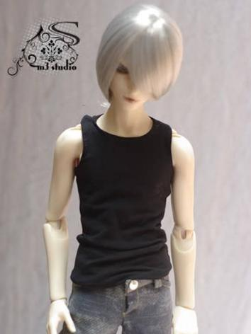 BJD Clothes Boy Vest Black ...