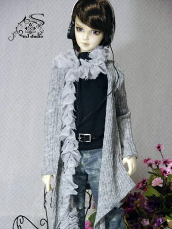 BJD Clothes Boy Grey Casual...