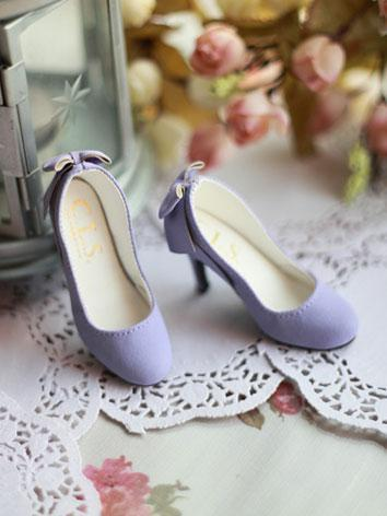 Bjd 1/3 Girl Shoes Light Pu...