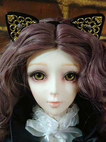 BJD Decorations Baroque Cat Ears Hairband Hairstick for SD/MSD/YOSD size Ball Jointed Doll