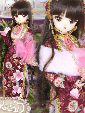 1/4 BJD Clothes Girl Red Ch...