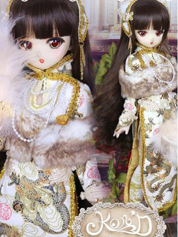 1/4 BJD Clothes Girl Gold C...