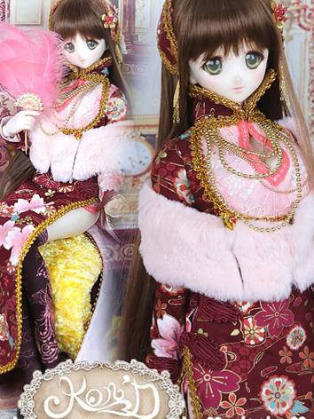 1/3 BJD Clothes Girl Red Ch...