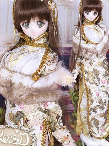 1/3 BJD Clothes Girl Gold C...