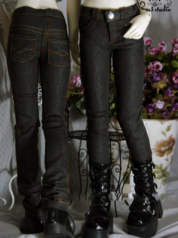 BJD Clothes Black Gray Jean...