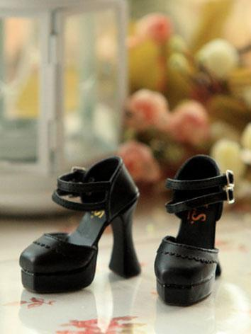 Bjd Girl Black High-heel Sh...
