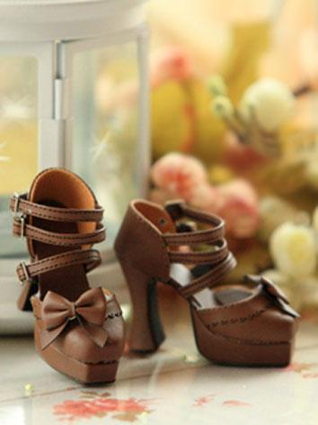 Bjd Girl Brown High-heel Sh...