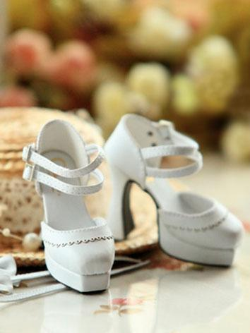 Bjd Girl White High-heel Sh...