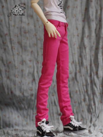 BJD Clothes Rose Red Pencil Pants for MSD/SD/70CM size Ball-jointed Doll