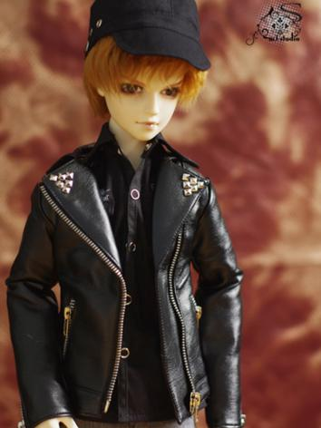BJD Clothes Punk Studded Le...