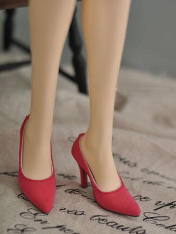 Bjd Girl Office Lady Red High-heel Shoes for SD16/SDGR/SD10/SD13 Girl Ball-jointed Doll