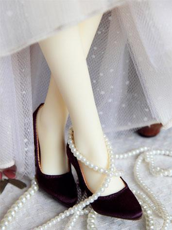Bjd Girl Office Lady Purple High-heel Shoes for SD16/SDGR/SD10/SD13 Girl Ball-jointed Doll