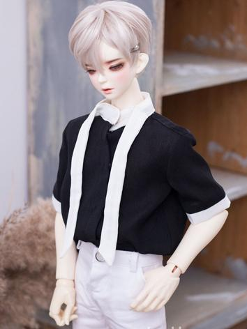 BJD Clothes Boy Black Shirt...