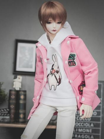 BJD Clothes Boy Pink Jacket + Hoody Set for SD/70CM Ball-jointed Doll