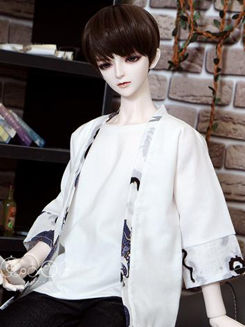 BJD Clothes Boy White Coat ...