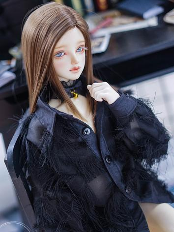 BJD Clothes Boy/Girl White/Black Shirt for 70cm/SD17/SD/MSD Ball-jointed Doll