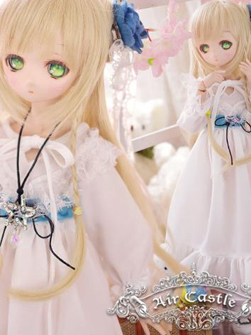 BJD Clothes MSD/MDD Girl White Long Dress Ball-jointed Doll