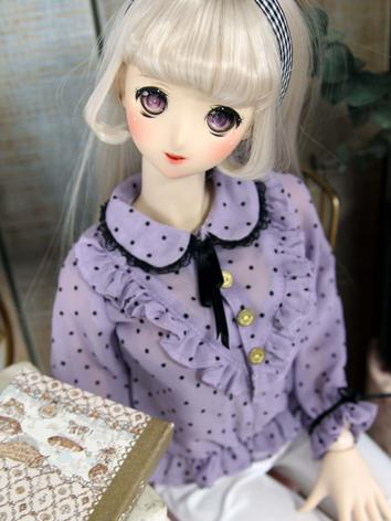 1/3 1/4 Girl Purple Shirt Top for SD/DD/MSD Size Ball-jointed Doll
