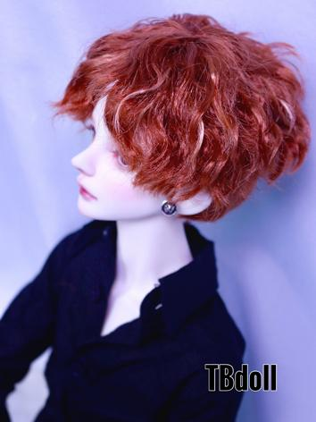 BJD Wig Girl/Boy Brown Short Curly Hair Wig for SD Size Ball-jointed Doll