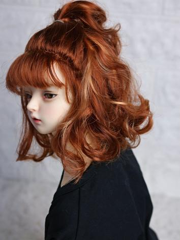 BJD Wig Girl Brown Hair Wig for SD/MSD/YOSD Size Ball-jointed Doll