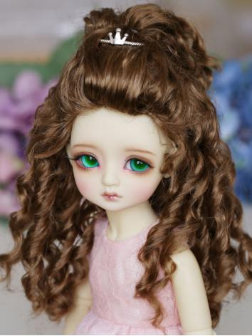 BJD Wig Female Brown Curly ...