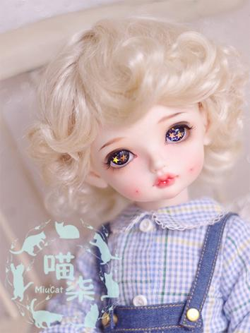 BJD Wig Boy/Girl Gold/Brown/Orange Short Curly Hair for SD/MSD/YSD Size Ball-jointed Doll