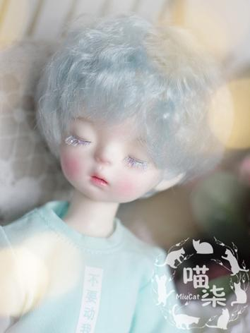 BJD Wig Boy/Girl Pink Short Curly Hair for SD/MSD/YSD Size Ball-jointed Doll