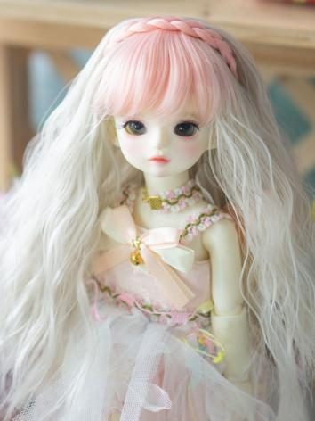 BJD Wig Girl Curly Hair for YOSD Size Ball-jointed Doll