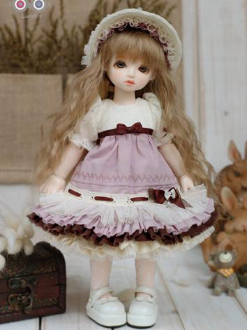 BJD Clothes Girl Violet Dre...